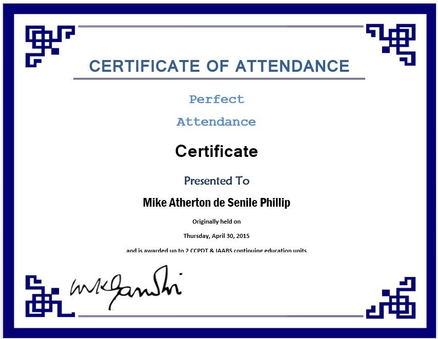 Printable Participant Certificate Template Word Certificate – Printable Certificate of Attendance