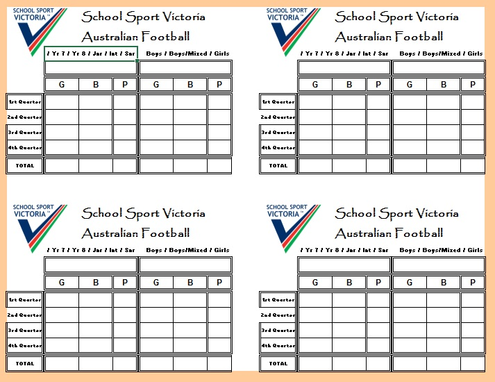13 Free Sample Football Score Sheet Templates Printable Samples – Sample Talent Show Score Sheet