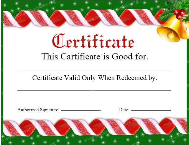 11 Free Sample Christmas Gift Certificate Templates Printable – Free Christmas Gift Certificate Templates