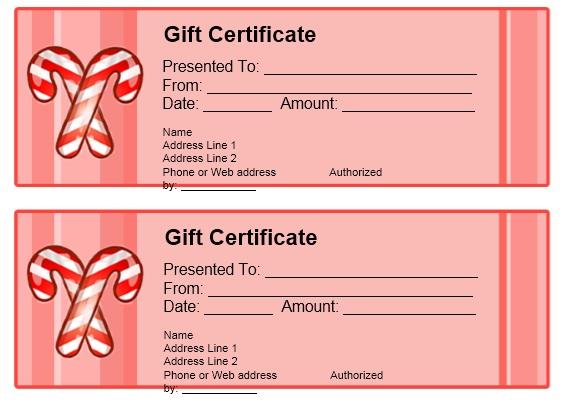 11 free sample christmas gift certificate templates printable samples for Coupon template google docs