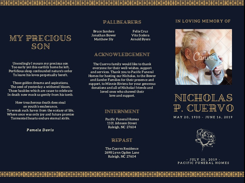 free funeral brochure templates online - 8 free sample funeral brochure templates printable samples