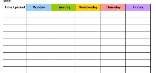 12 Free Sample Staff Schedule Templates Printable Samples – Sample Schedule Template
