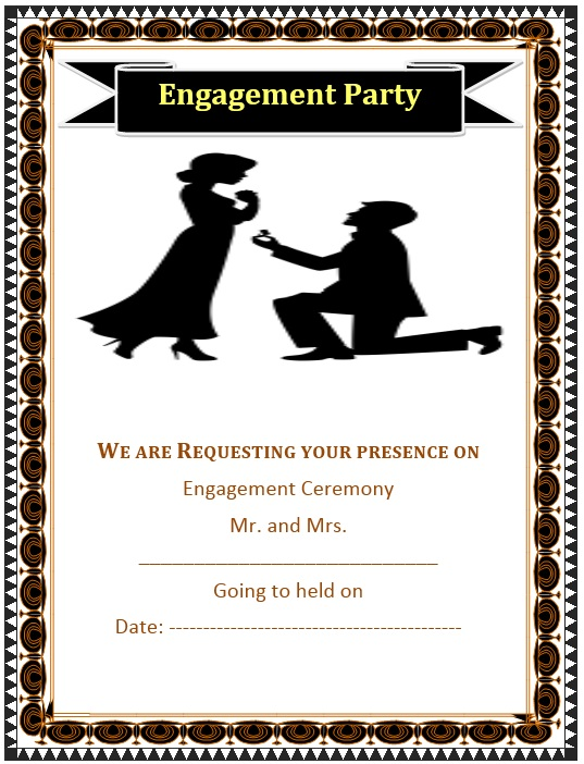 5 Free Sample Engagement Ceremony Invitation Templates Printable – Format of Engagement Invitation