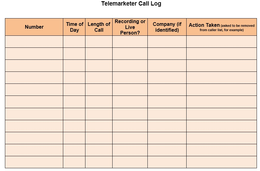 11 Free Sample Telephone Log Templates Printable Samples – Telephone List Template