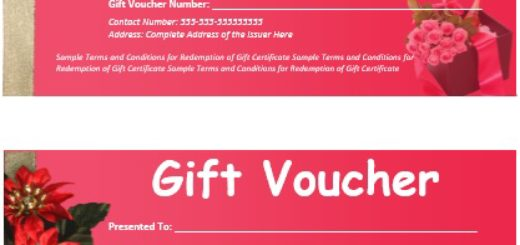 Sample Vouchers Printable Samples – Sample Vouchers