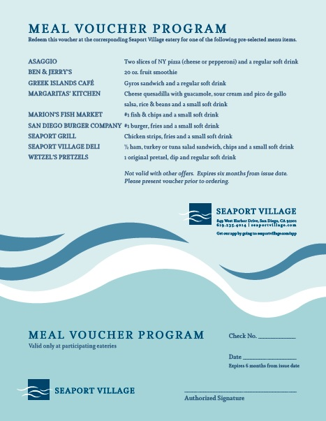 7 Free Sample Meal Voucher Templates Printable Samples – Sample Check Voucher
