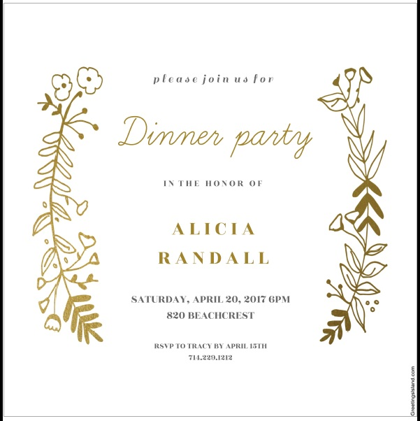 12 Free Sample Dinner Invitation Card Templates - Printable Samples