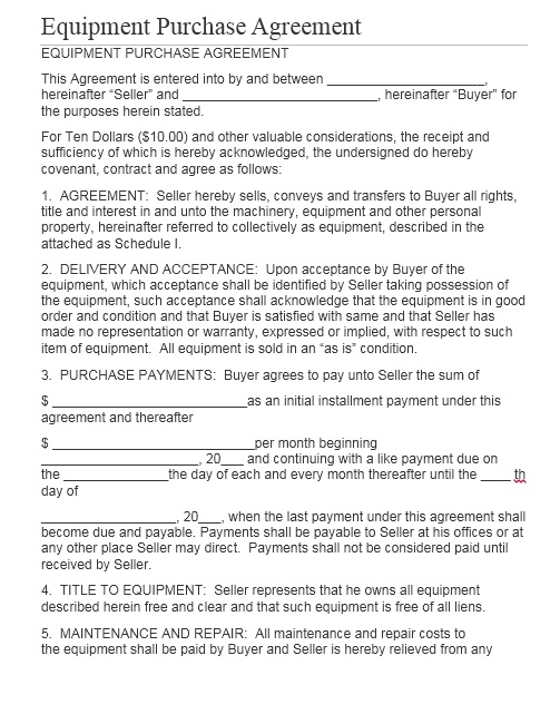 Purchase Contract Template 06