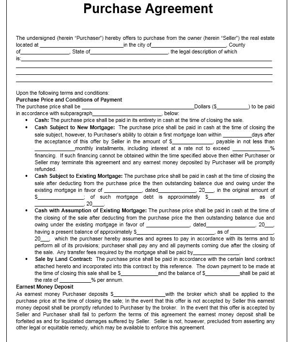 Purchase Contract Template 01