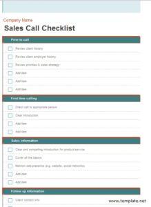 9 Free Sample Sales Log Templates – Printable Samples
