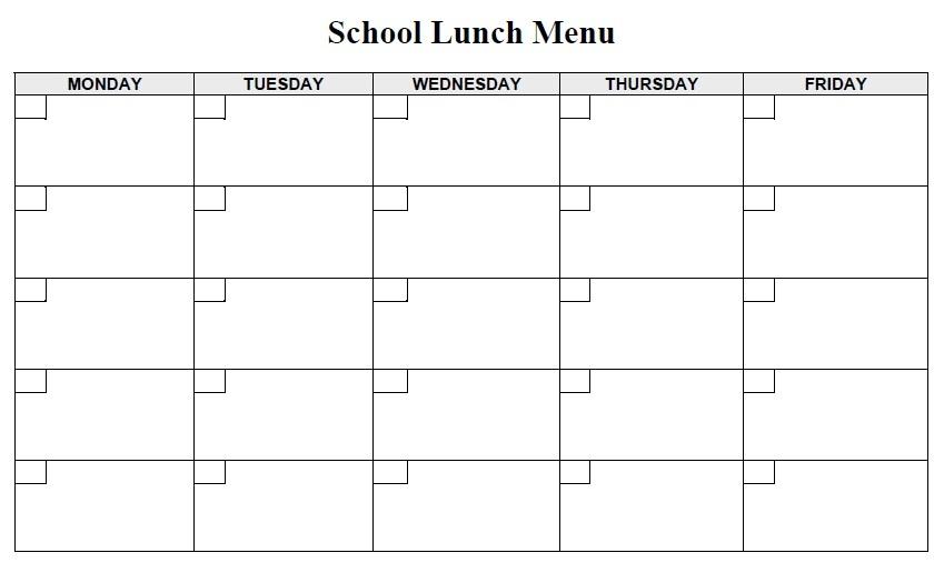 Doc585527 School Menu Template School Menu Template 11 Free – Lunch Menu Template Free