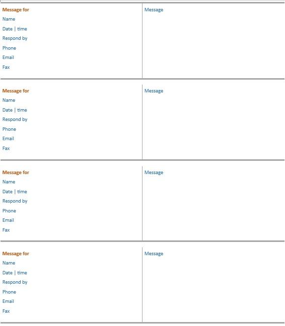 11 Free Sample Telephone Log Templates Printable Samples