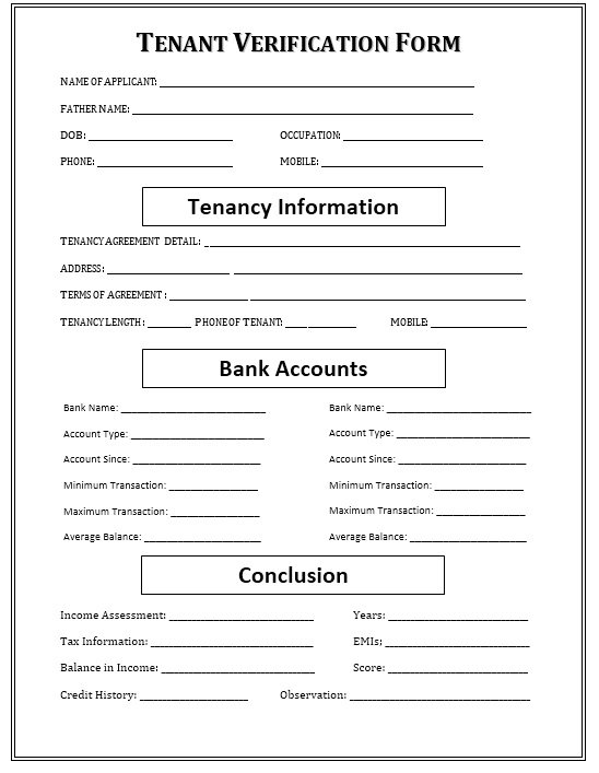 Rental Verification Form Printable Sample Rental Agreement For