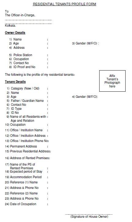 12 Free Sample Tenant Verification Form Printable Samples