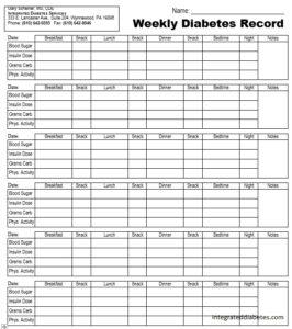 12 Free Sample Blood Sugar Log Templates Printable Samples