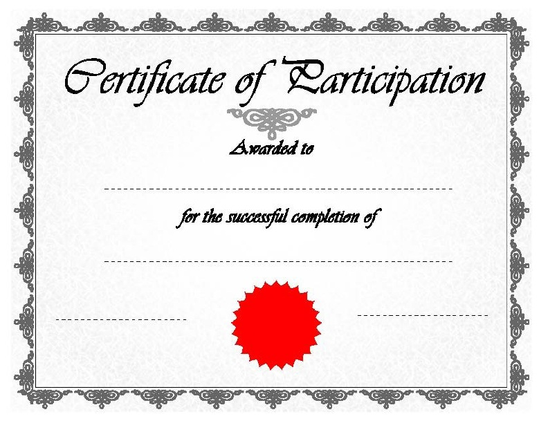 Creating Attendance Certificate Template