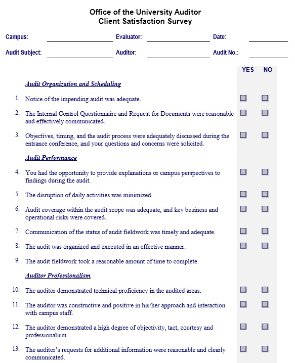 13 Free Sample Customer Satisfaction Survey - Printable ...