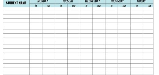 9 Free Sample Conference Sign in Sheet Templates Printable Samples – Weekly Sign in Sheet Template