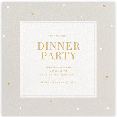 12 Free Sample Dinner Invitation Card Templates - Printable Samples