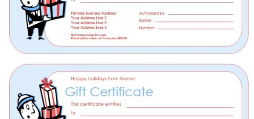 13 Free Sample Birthday Gift Certificate Templates Printable Samples – Sample Blank Gift Certificate Template