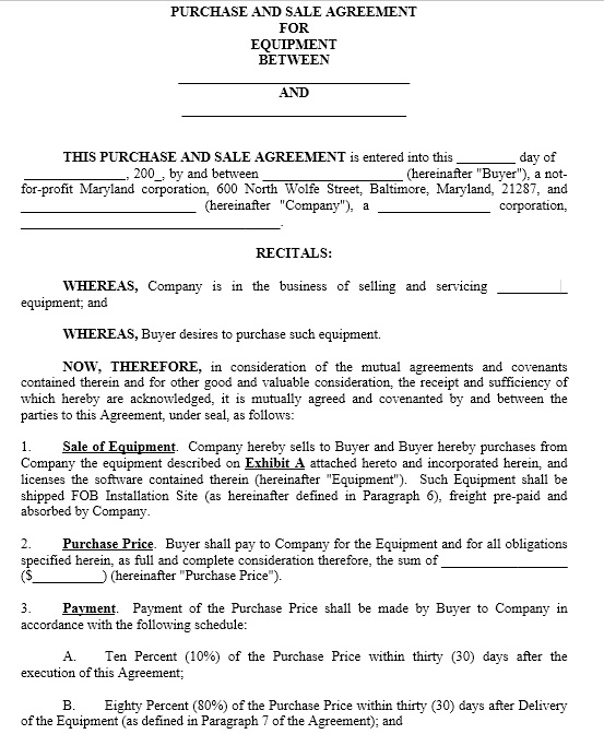 Purchase Contract Template 03