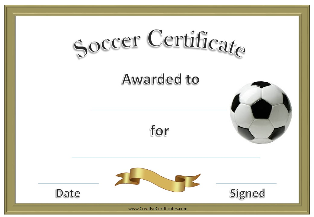 Candid image within printable soccer certificates