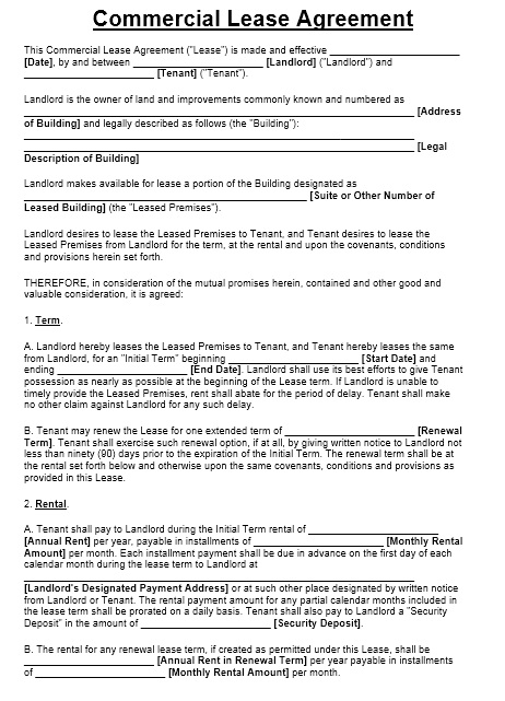 13 Free Sample Office Sublease Agreement Templates