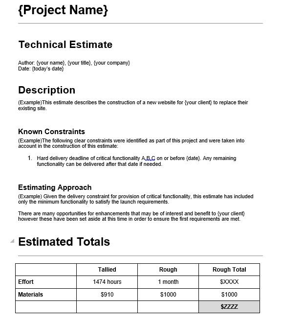 7 Free Sample Web Design Estimate Evaluation Form Printable Samples