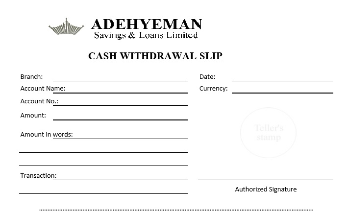 7 Free Sample Atm Withdrawal Receipt Templates Printable Samples