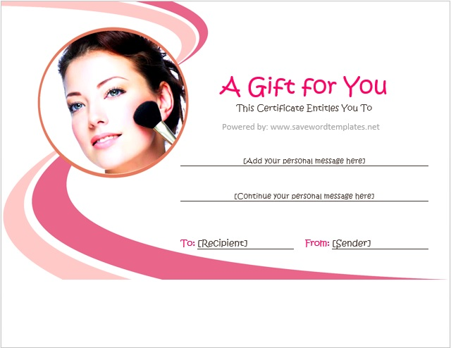 Personal Gift Certificate Template