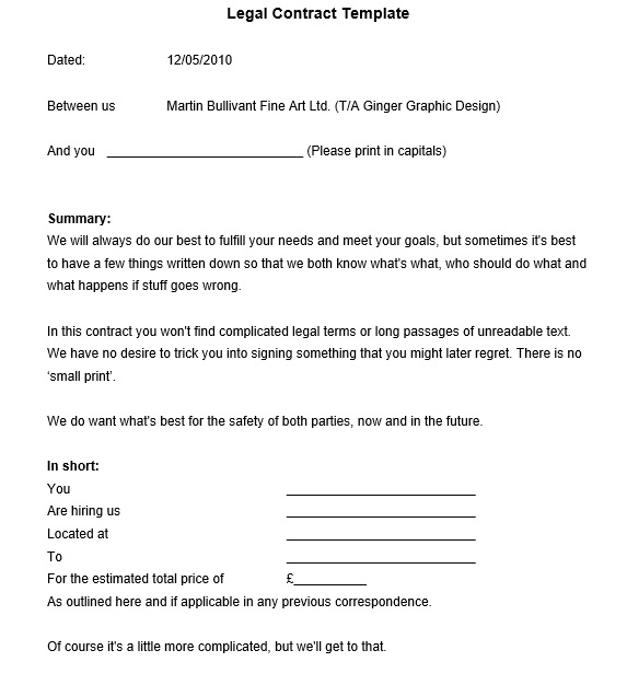 12 Free Sample Legally Binding Agreement Templates Printable Samples – Terms and Agreements Template