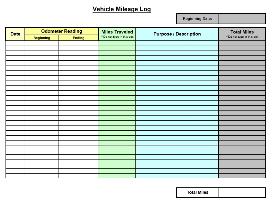 mileage log for taxes template okl mindsprout co