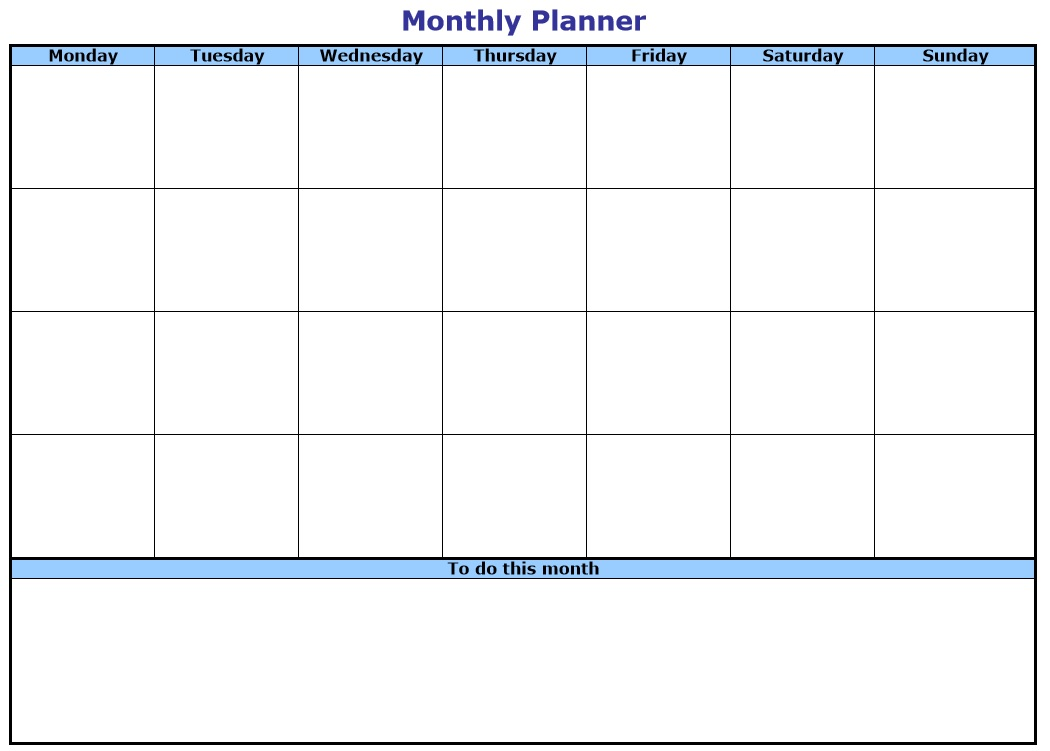 10 Free Sample Monthly To Do List Templates Printable Samples – Sample to Do Checklist Template