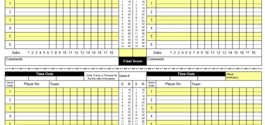 April 2017 Page 3 Printable Samples – Sample Talent Show Score Sheet