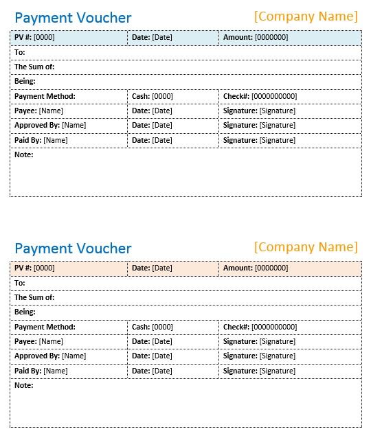 8 Free Sample Cash Voucher Templates Printable Samples – Payment Voucher Sample