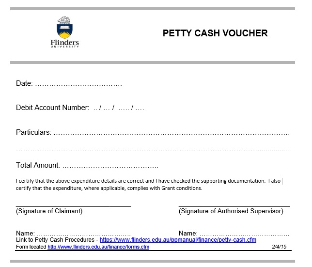 Doc461649 Petty Cash Slips Template Petty Cash Voucher – Petty Cash Slips Template