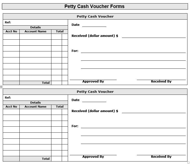Doc461649 Petty Cash Slips Template Petty Cash Voucher – Petty Cash Voucher Format
