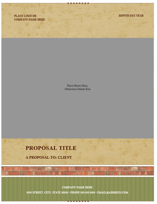 RealestateProposalTemplate   Printable Samples