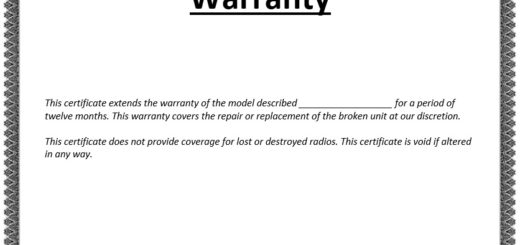 Drafting Warranty Certificate Archives  Printable Samples