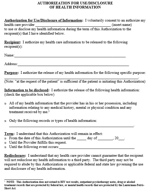 Consent For Medical Treatment Form Template from www.printablesample.com
