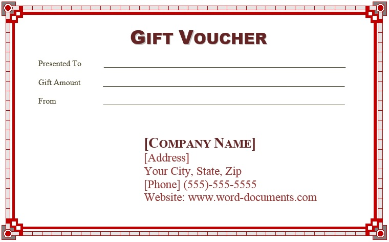 9 Free Sample Birthday Voucher Templates Printable Samples – Sample Vouchers