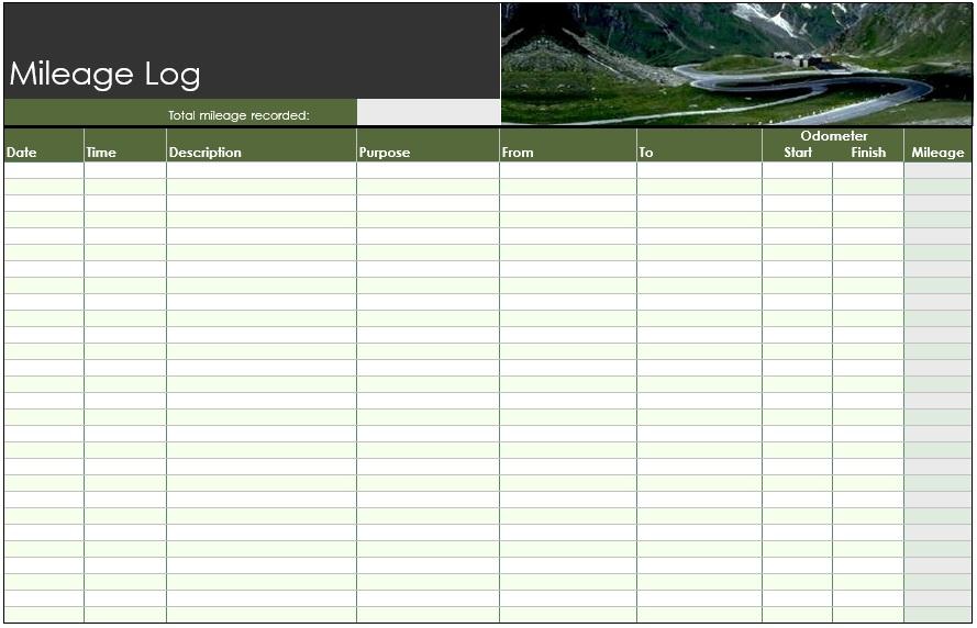 8 Free Sample Mileage Log Templates Printable Samples – Mileage Log Template