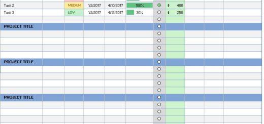 List Templates Printable Samples – Sample Task List