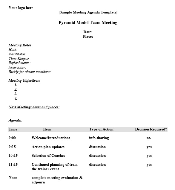 Timed Agenda Template from www.printablesample.com