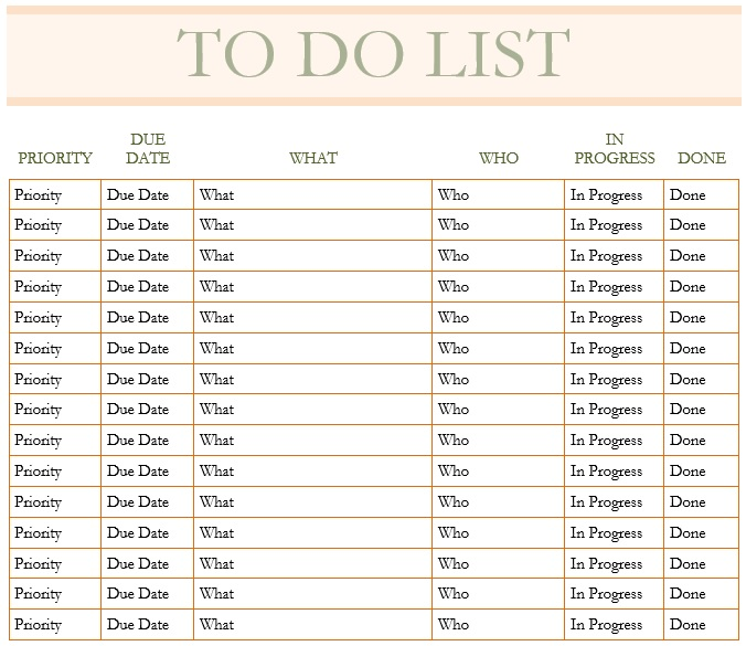10 Free Sample Monthly To Do List Templates Printable Samples – To Do List Samples