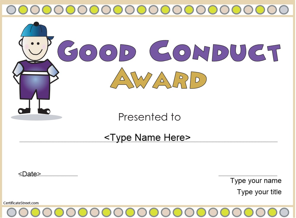 how to get certificate of good conduct