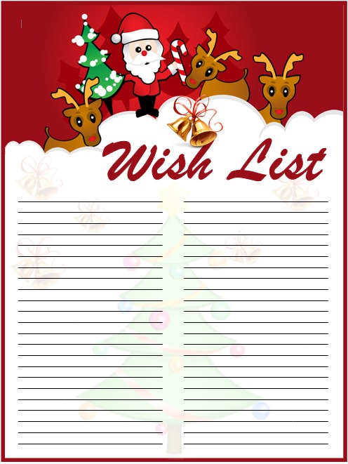 9 Free Sample Holiday Wish List Templates Printable Samples – Wish List Templates