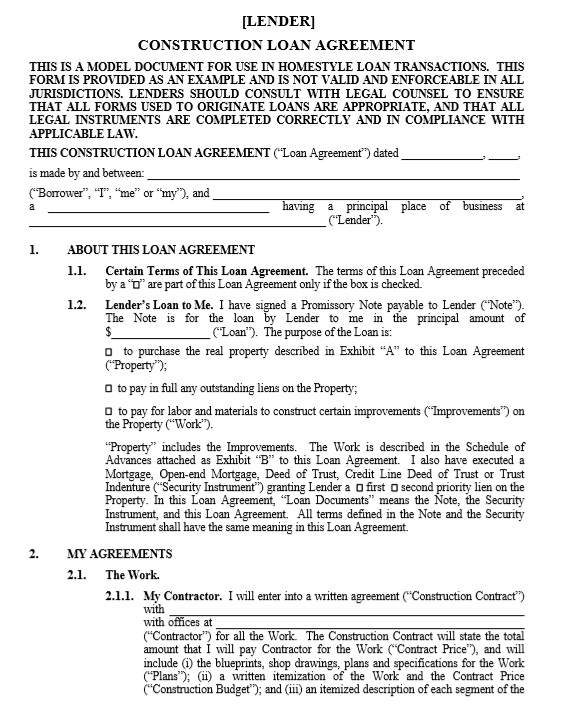 Awesome Here Is Preview Of Another Sample Housing Loan Contract Template In PDF  Format,
