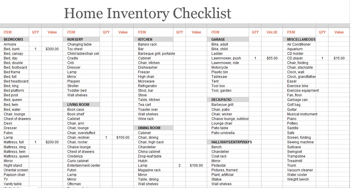 Printable Inventory Template from www.printablesample.com