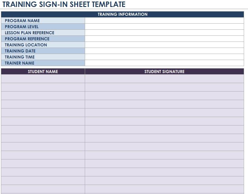 9 Free Sample Volunteer Signup Sheet Templates Printable Samples – Sample Training Sign in Sheet